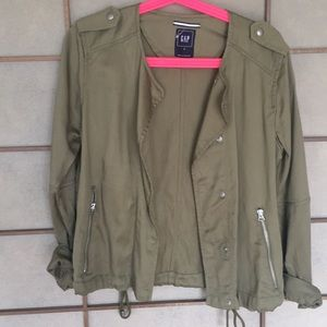 Green Moto Style Jacket
